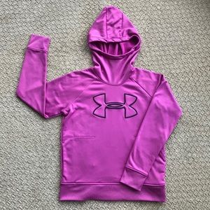 Under Armour Hoody in Purply Pink